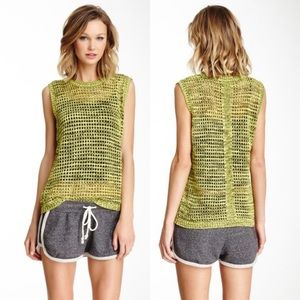 Lucca Couture Knit Sleeveless Sweater Tank Vest XS